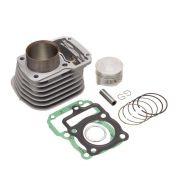 Kit Premium C/Cilindro Pistao Junta Kmp Anel Rik Cg 125 02 A 08 Bros 125 03 A 05