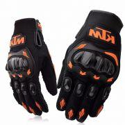 Luva Ktm Com Proteção Mãos Motocross Trilha