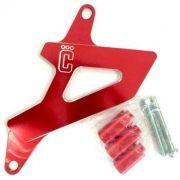 Protetor De Pinhão Corona Em Alumínio Honda Crf 230 Vermelho