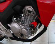 Slider Dianteiro Anker Honda Cb 250 Twister 2016 a 2020 Alumínio Anodizado