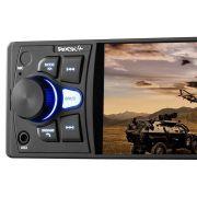 Som Automotivo Rock 4 Mp5 Radio Bluetooth Multilaser 1 Din Tela 4 pole