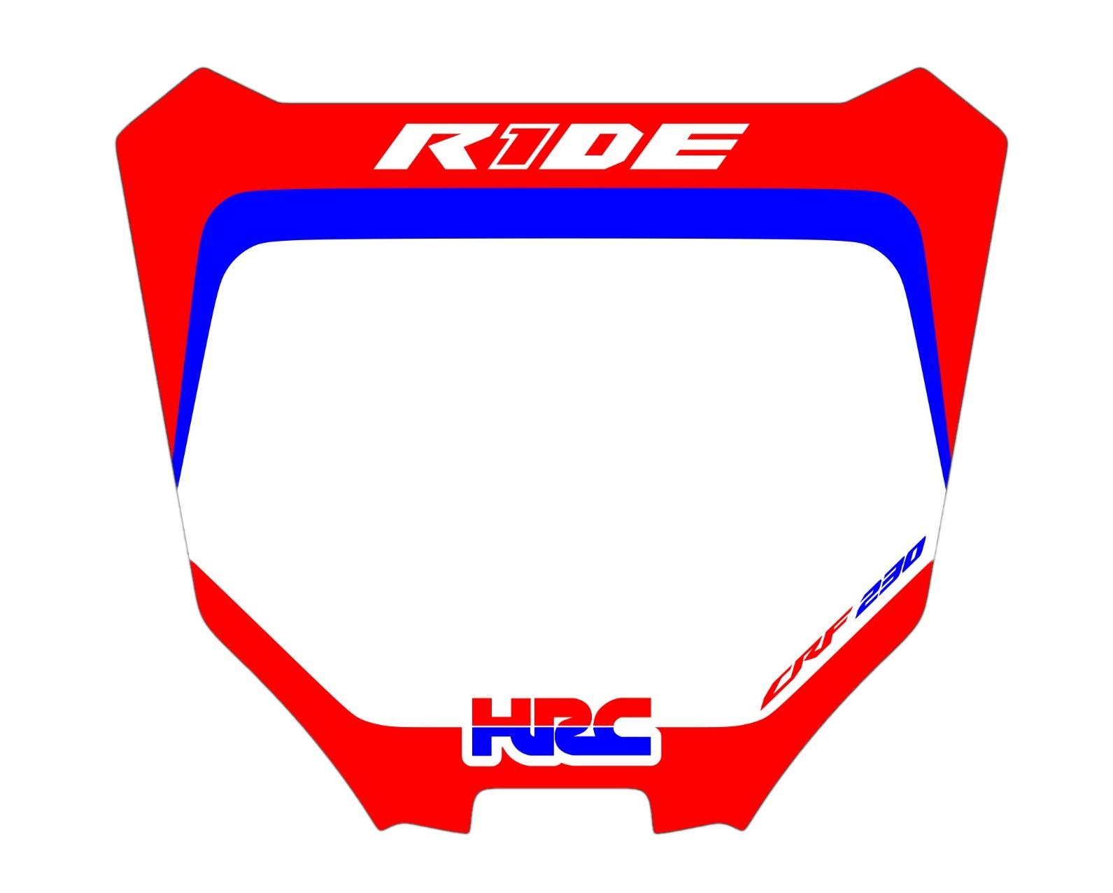 Adesivo Take Number Plate Biker R1de Crf 230
