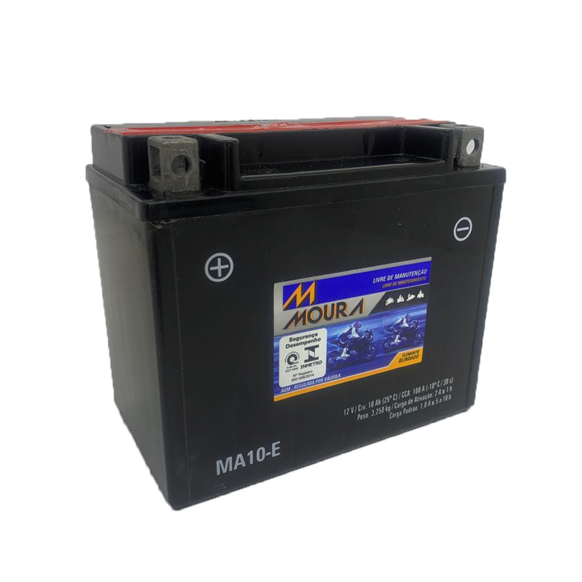 Bateria Moura 10ah Gsx 1300 Hayabusa 1000/750 W Gs 500 Bandit 650 12v