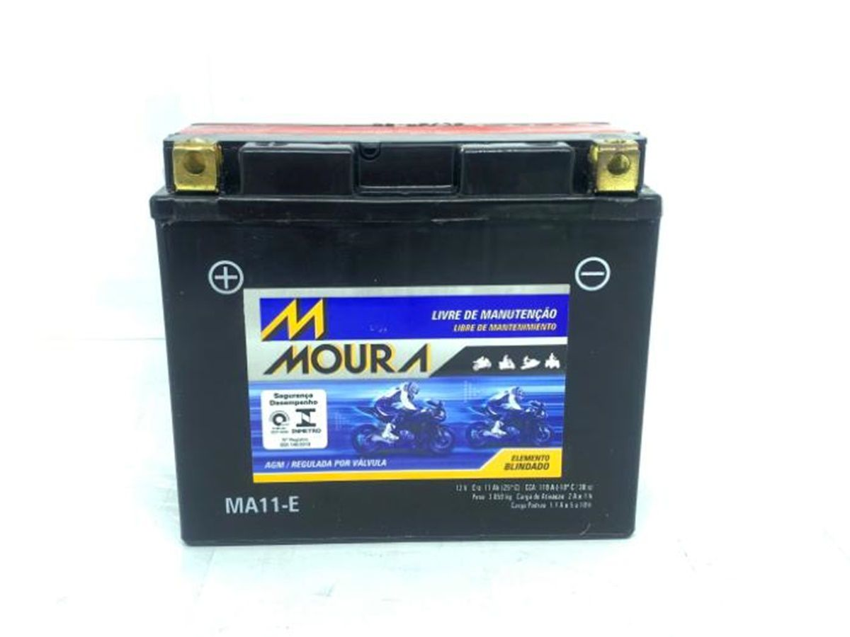 Bateria Moura Ma11-e Yamaha 600 Xj6 Yt12b-bs Ducati 696 Monster 696 Zx1000-c Ninja