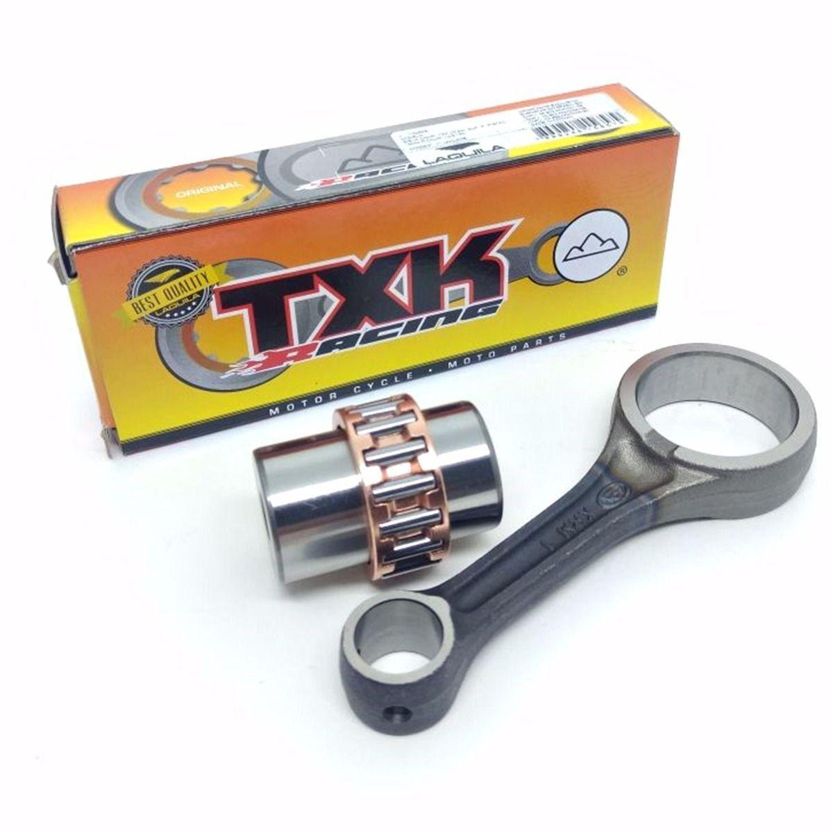 Biela Completa Txk Competição Pino 15mm Haste 2mm Curta Cg 150 Titan Fan Nxr bros 150