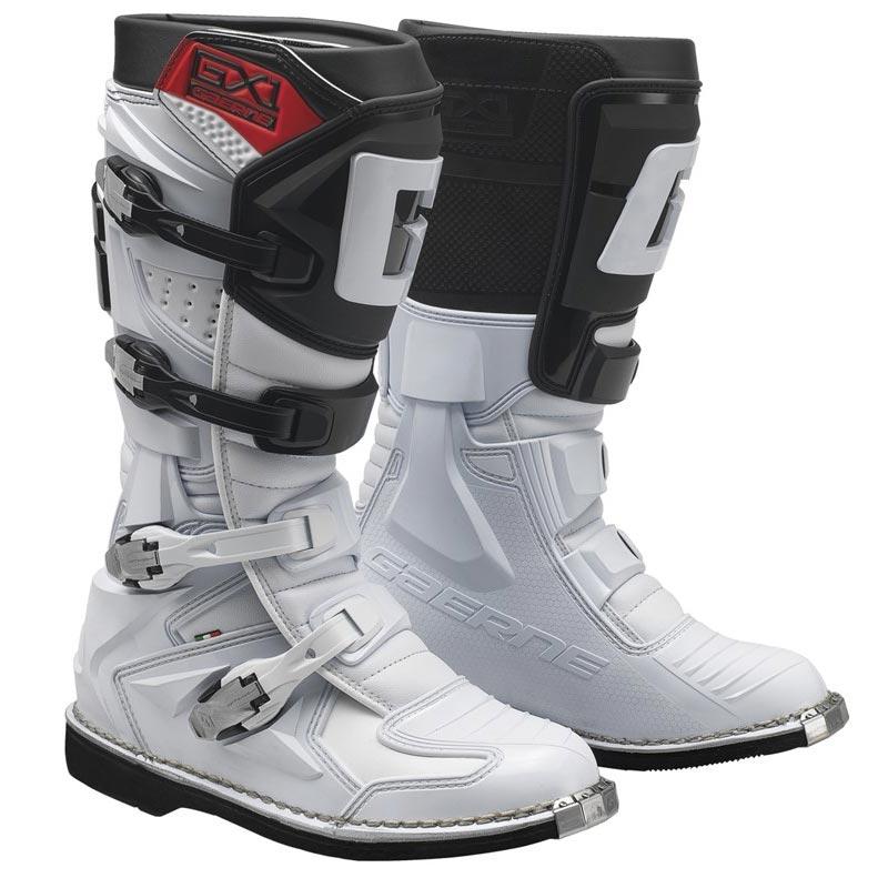 Bota Gaerne Gx1 Goodyear Branca Preto Lançamento Motocross Enduro Trilha