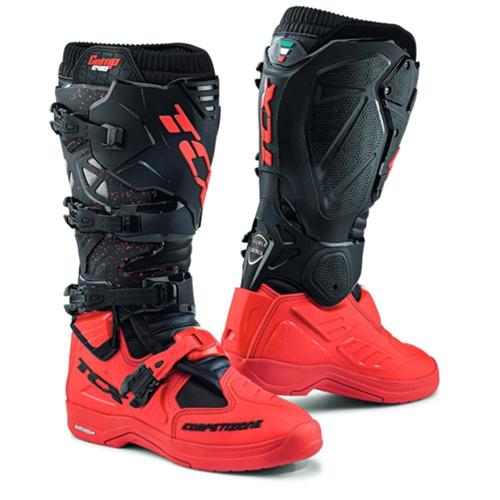 Bota Tcx Evo 2 Michelin Preto Vermelho Trilha Motocross