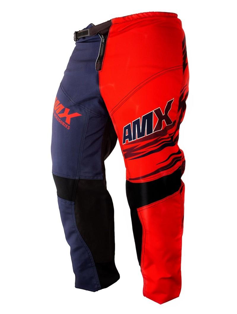 Calça Amx Classic Fast Vermelho Azul Trilha Motocross