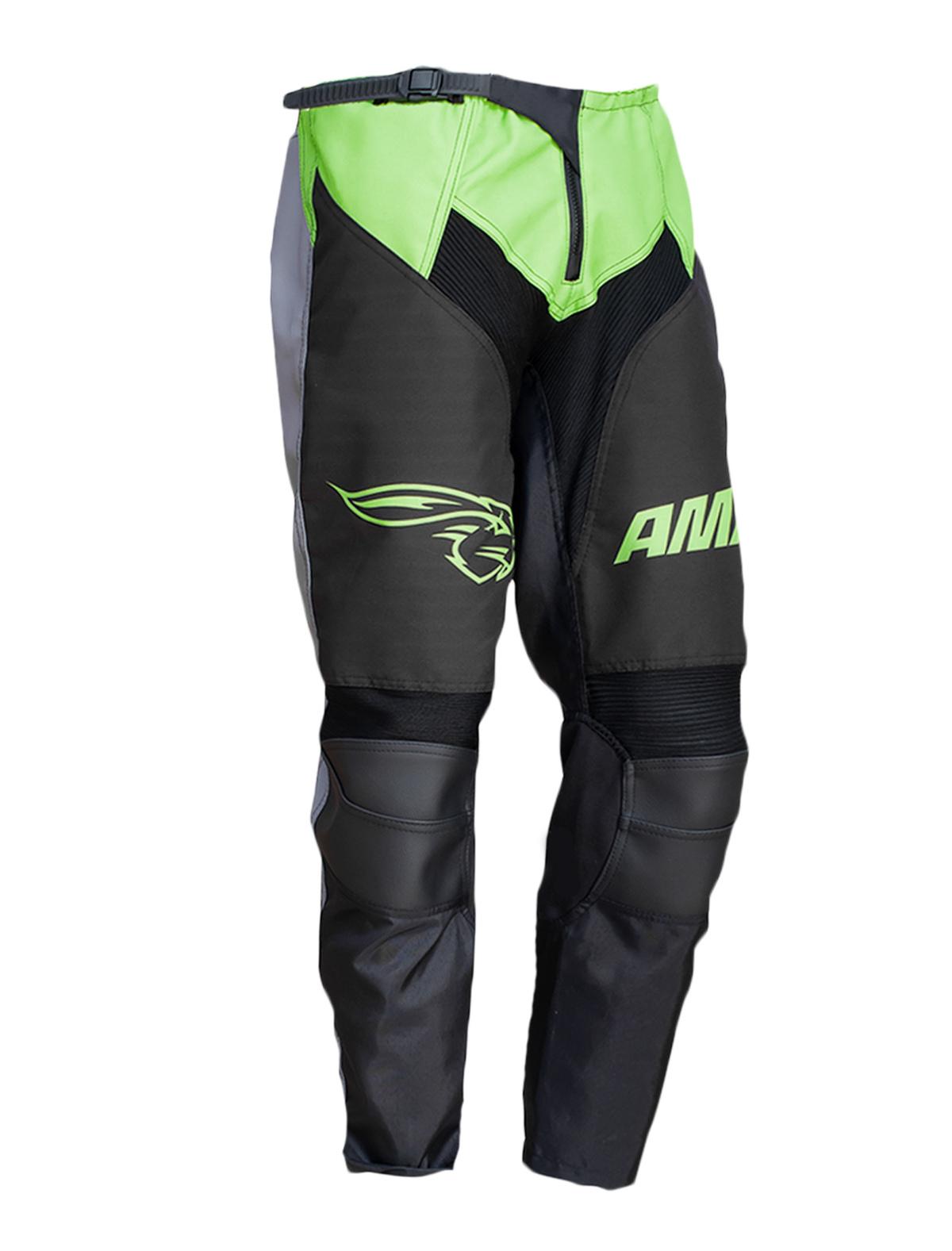 Calça Amx Prime Cross Preto Neon Trilha Motocross