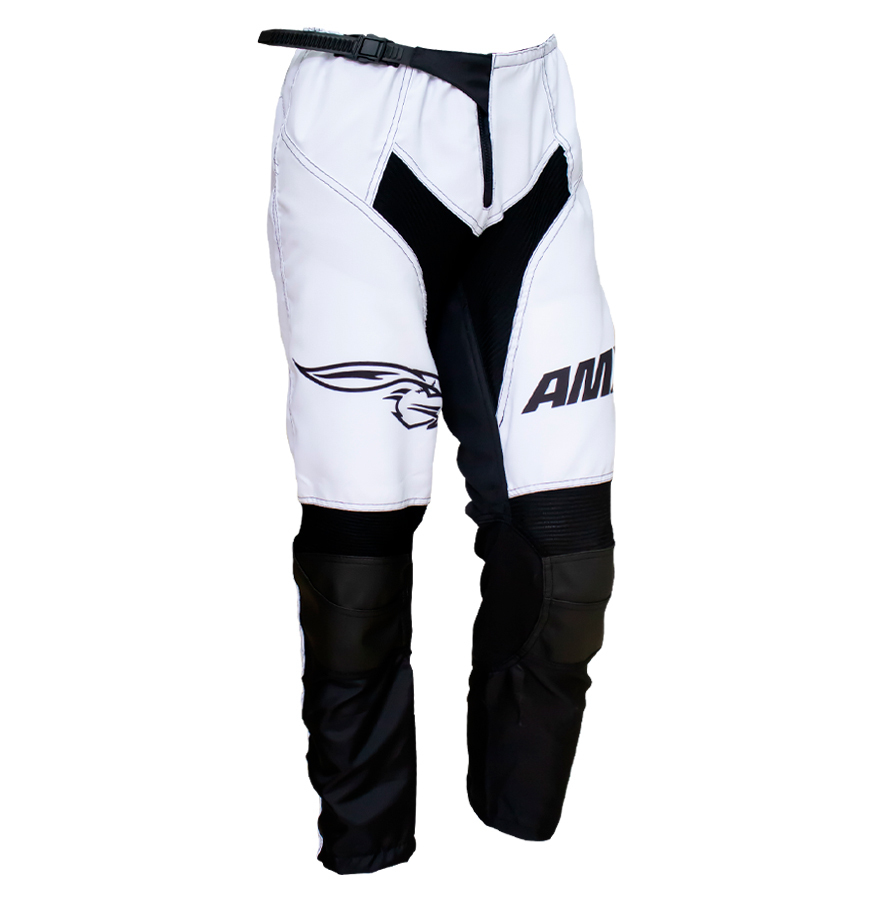 Calça Amx Prime One Branco Preto Trilha Motocross