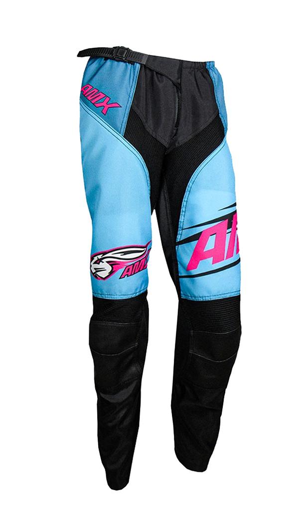 Calça Amx Prime Race Rosa Azul Trilha Motocross