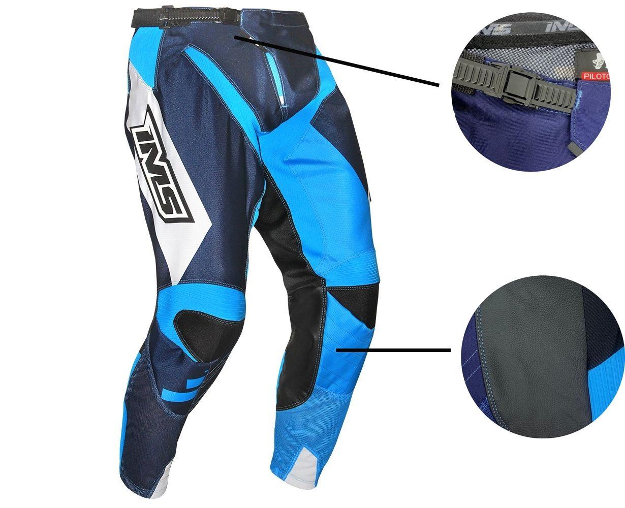 Calça Ims Sprint Azul Ventilada Reforçada Motocross Trilha Enduro
