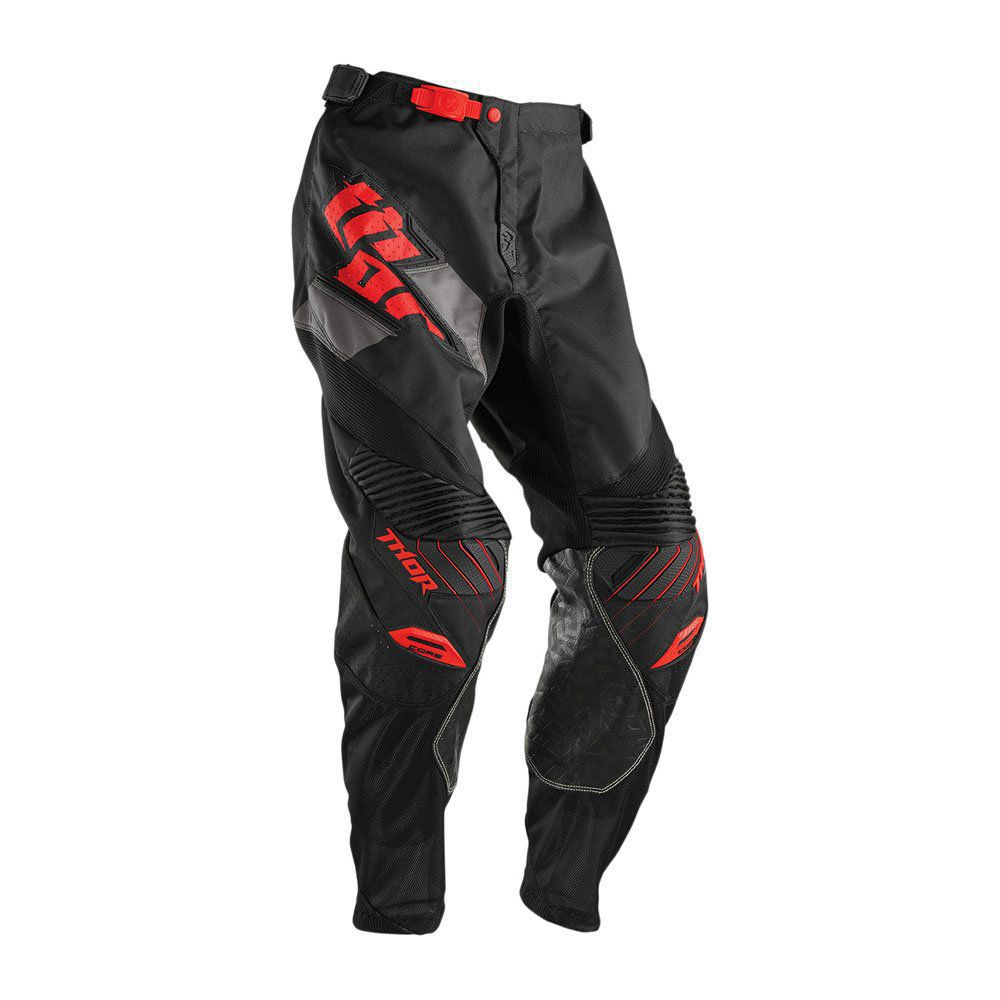Calça Motocross Enduro Trilha Thor Core Merge Preto Com Vermelho