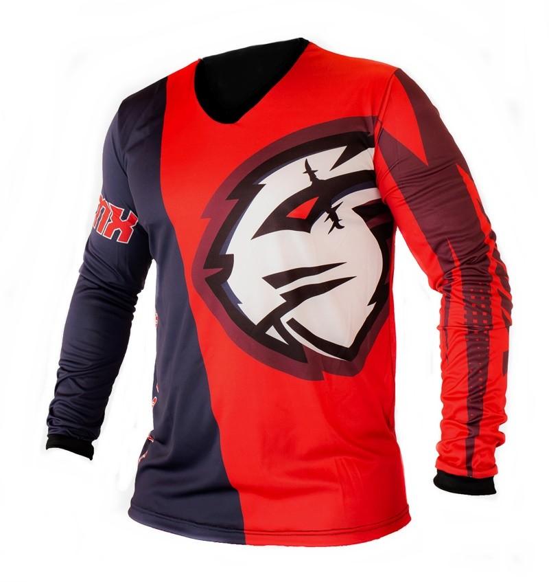 Camisa Amx Classic Fast Vermelho Azul Trilha Motocross