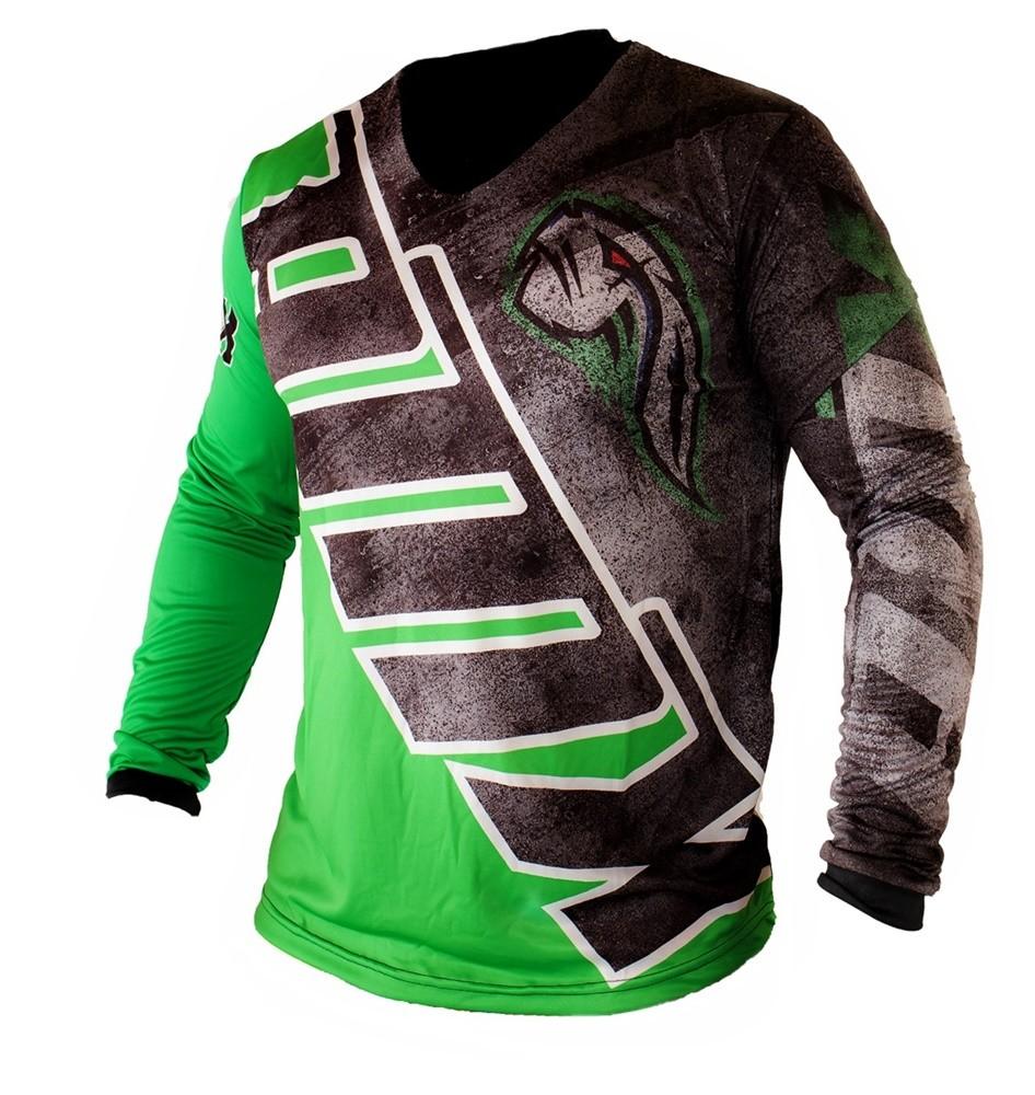 Camisa Amx Classic GO Verde Preto Trilha Motocross