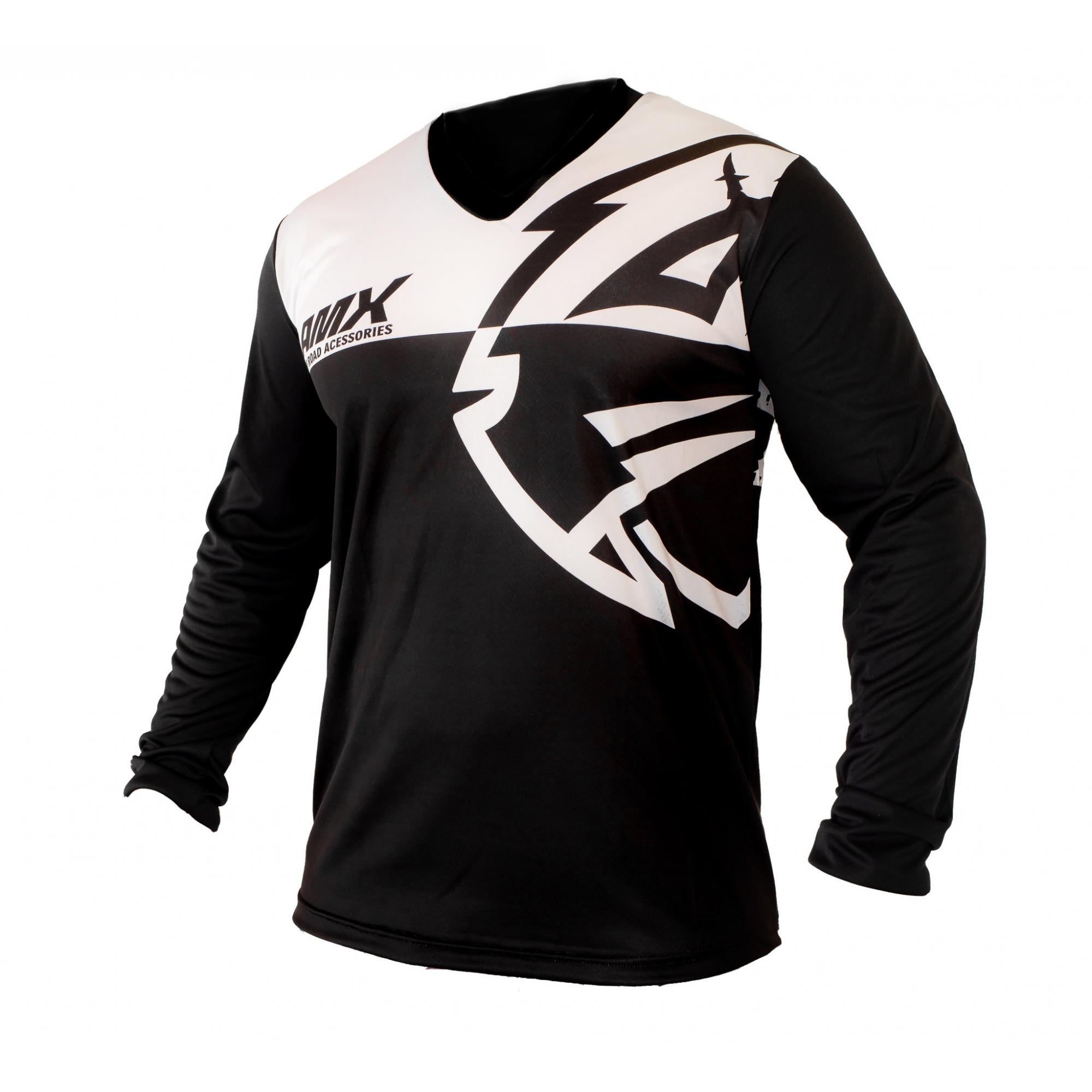 Camisa Amx Classic Preto Branco Trilha Motocross