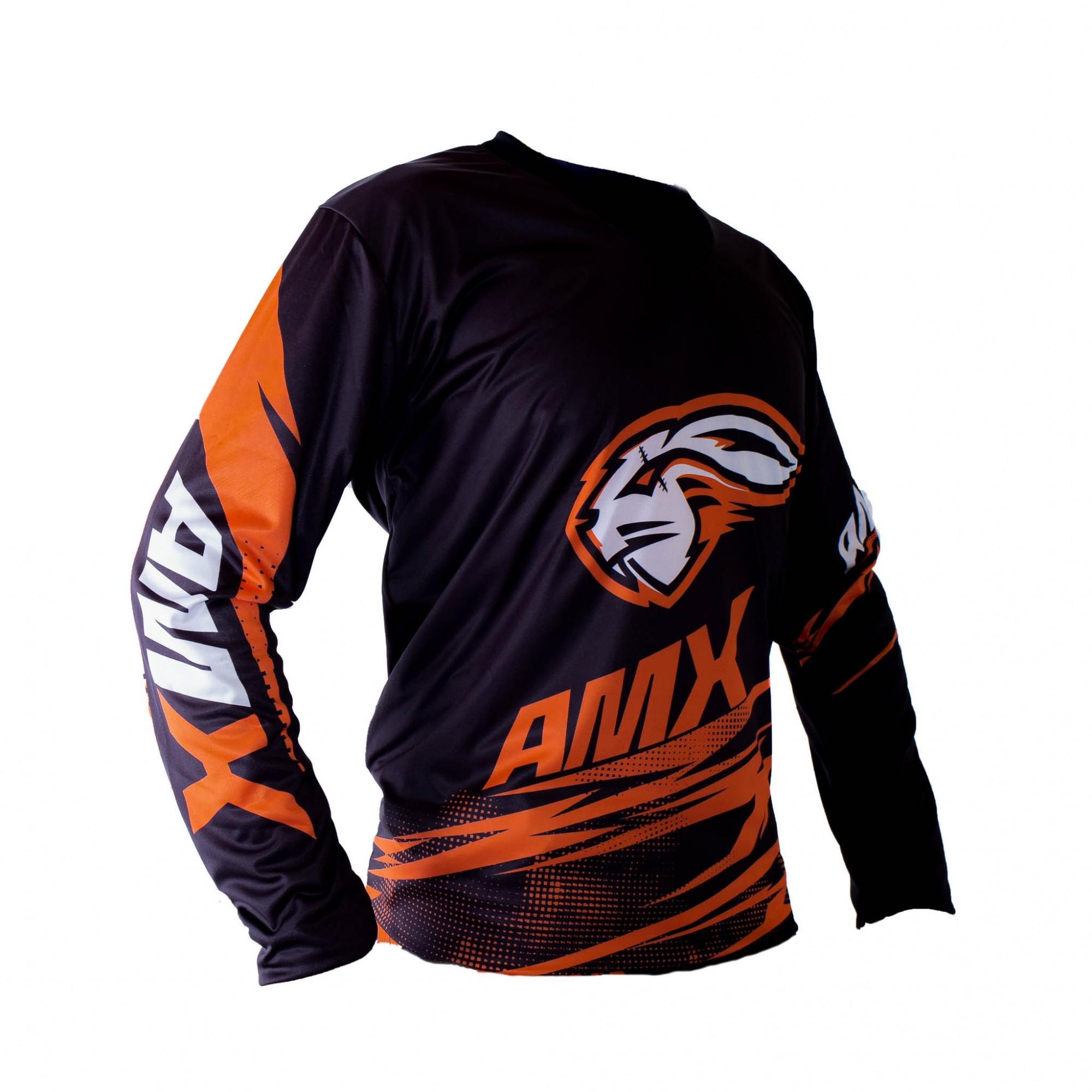 Camisa Amx Duo Trilha Motocross Laranja
