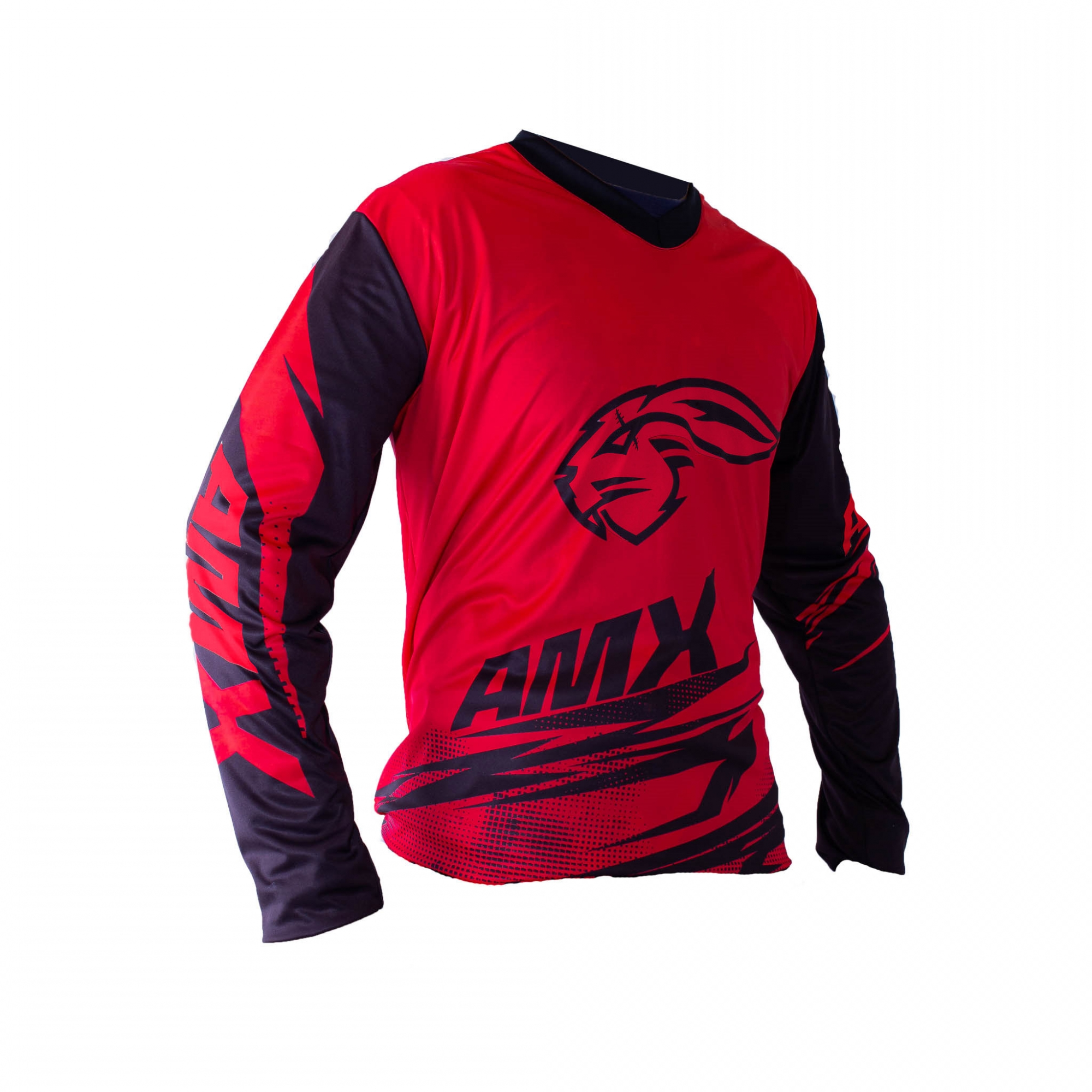 Camisa Amx Duo Trilha Motocross Vermelho