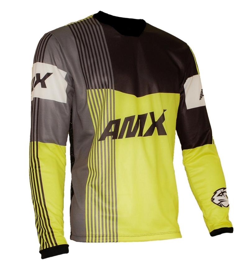 Camisa Amx Prime Amarelo Preto Trilha Motocross