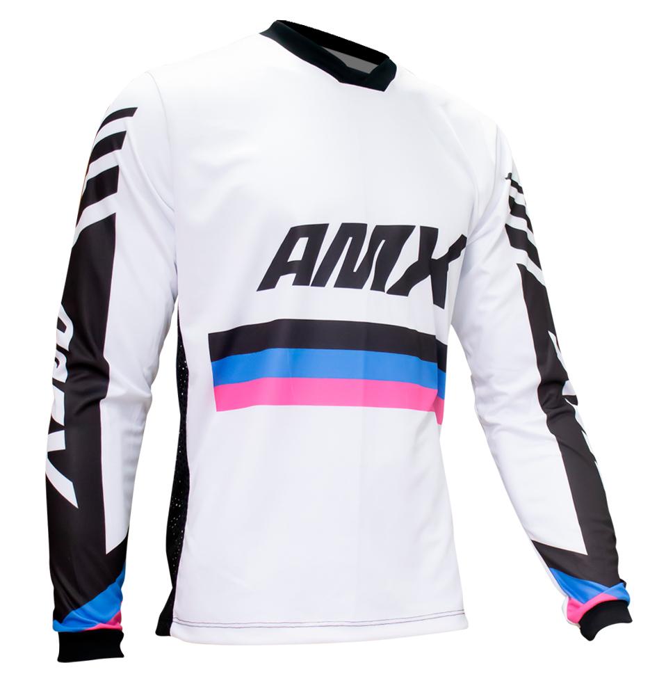 Camisa Amx Prime One Branco Trilha Motocross