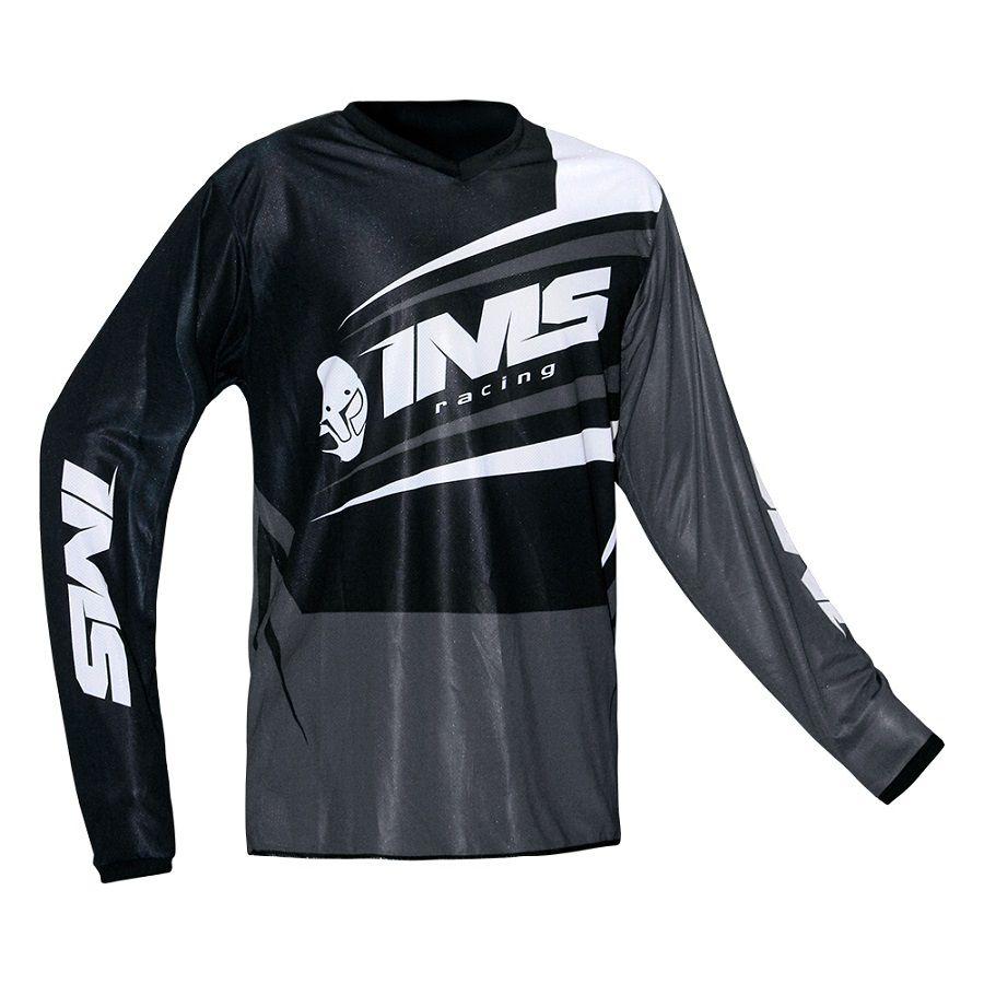 Camisa Ims Flex Cinza / Preta Ventilada P/ Trilha Motocross