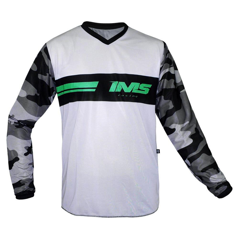 Camisa Ims Loretta Camuflada Cinza Trilha Motocross Grande GGG