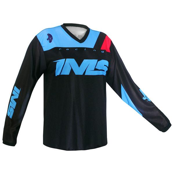 Camisa Ims Malibu Trilha Motocross Preto Azul Grande GGG