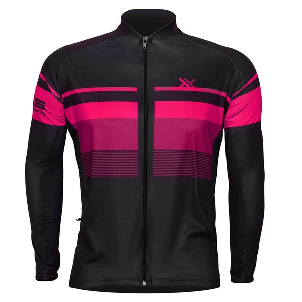 Camisa Mattos Bike Track 2 Rosa Manga longa Ciclismo