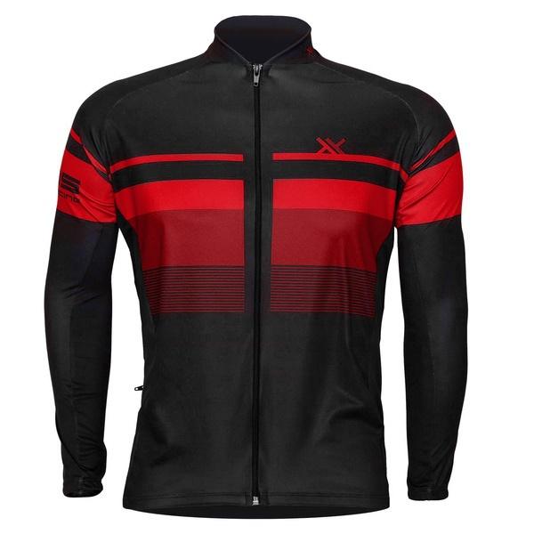 Camisa Mattos Bike Track 2 Vermelho Manga longa Ciclismo