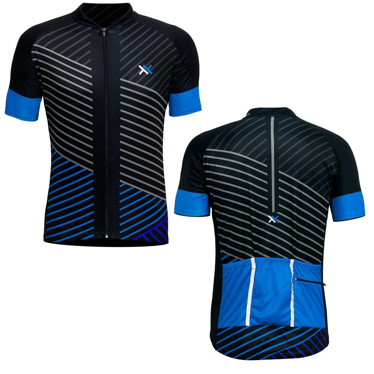 Camisa Mattos Lines Masculino Ciclismo Azul