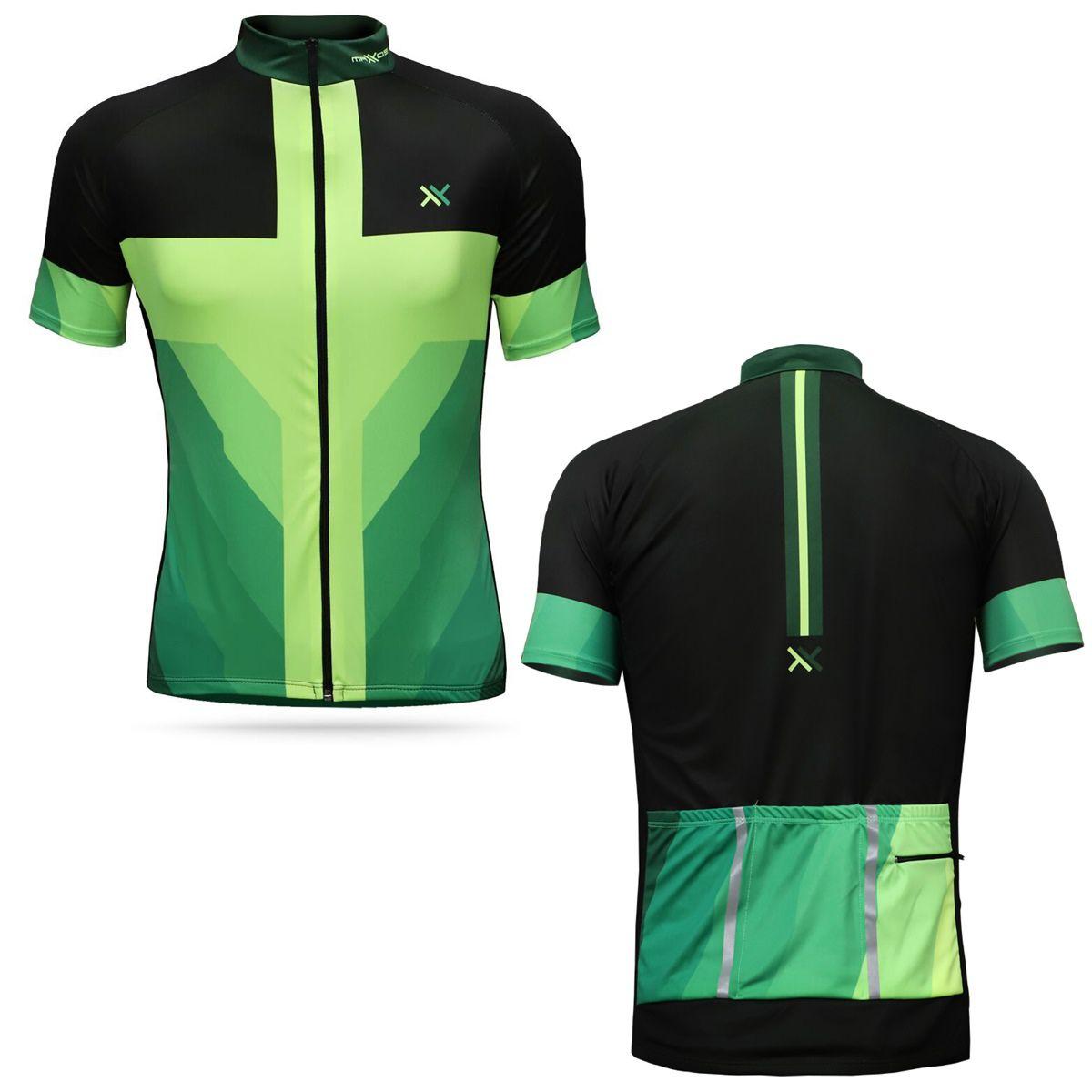 Camisa Mattos Masculina Ciclismo Amarelo Fluor