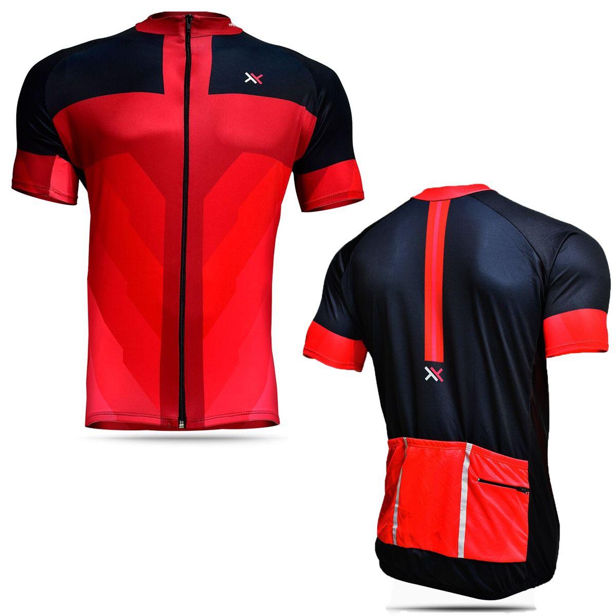 Camisa Mattos Masculina Ciclismo Vermelho