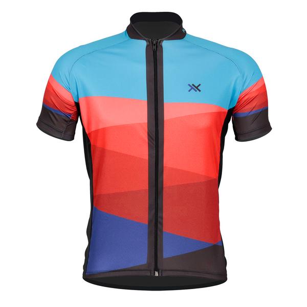 Camisa Mattos Racing Bike 2 Azul Vermelho Ciclismo