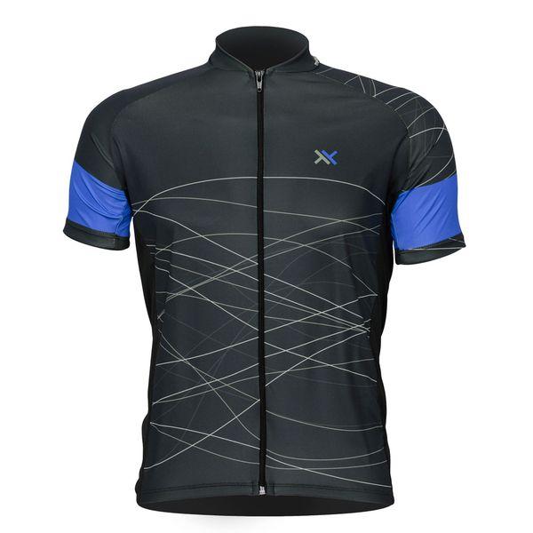 Camisa Mattos Racing Bike Azul Lines 2 Ciclismo