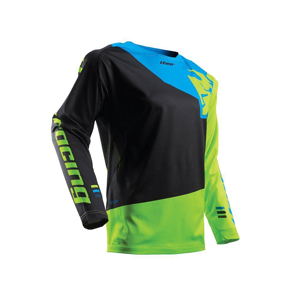 Camisa Thor Fuse Pinin Preto / Verde Limão