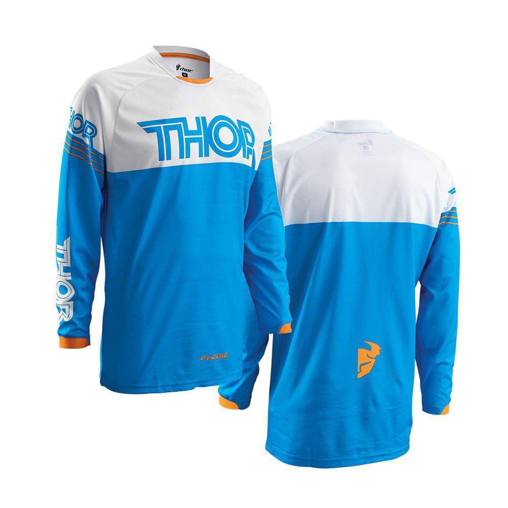 Camisa Thor Phase Hyperion Azul E Branco