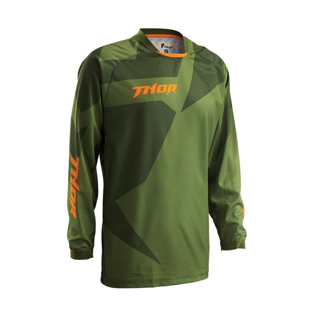 Camisa Thor Phase Flexível Off road Verde Anti Mofo