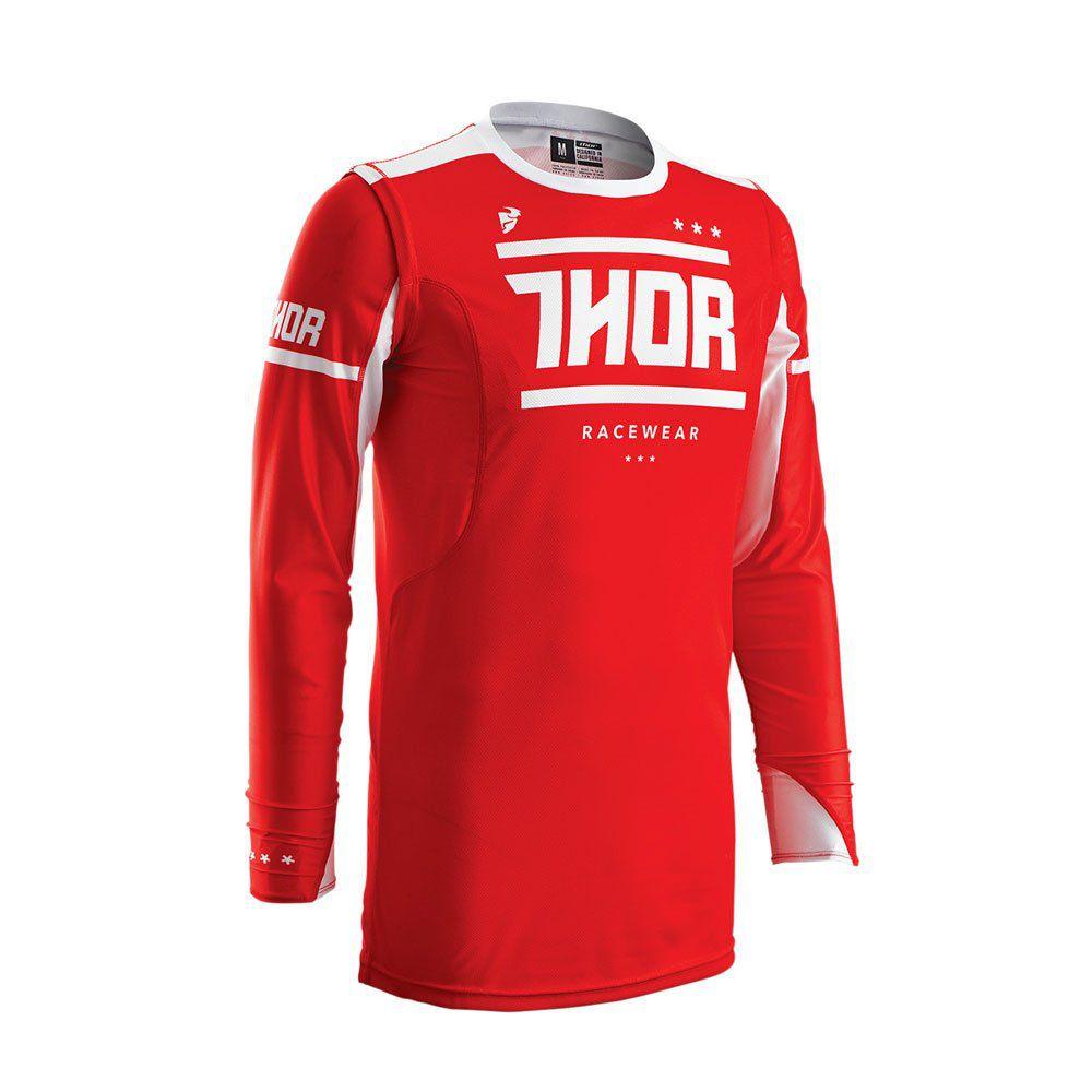 Camisa Thor Prime Fit Squad Vermelho / Branco