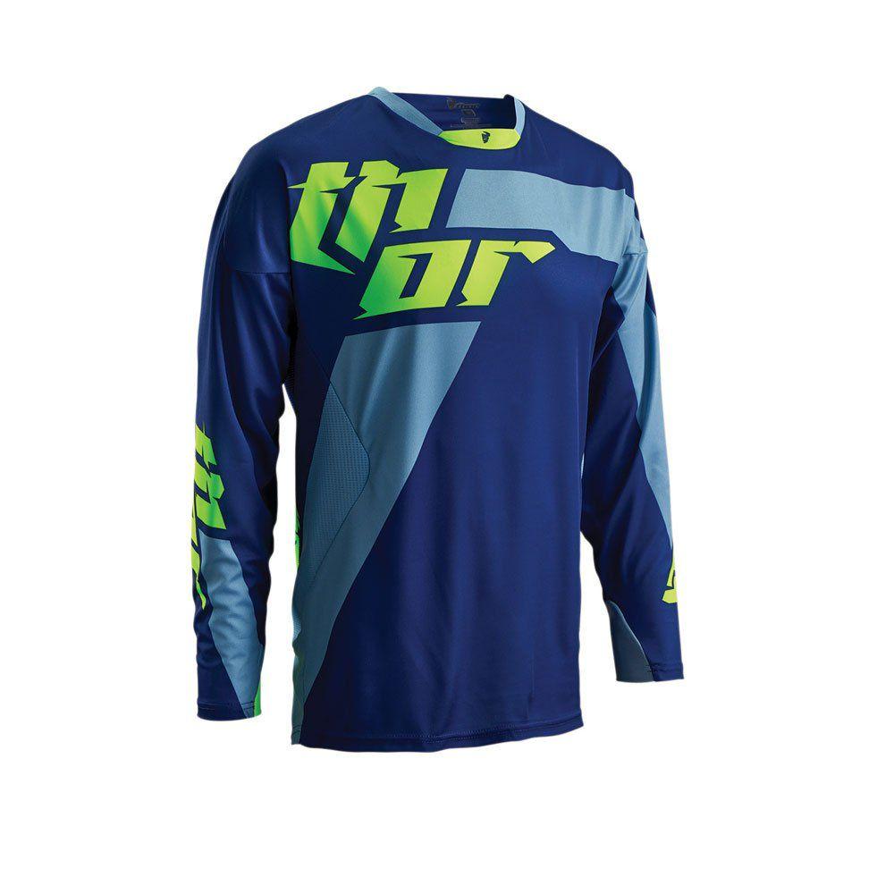 Camisa Trilha Thor Core Merge Azul e Verde