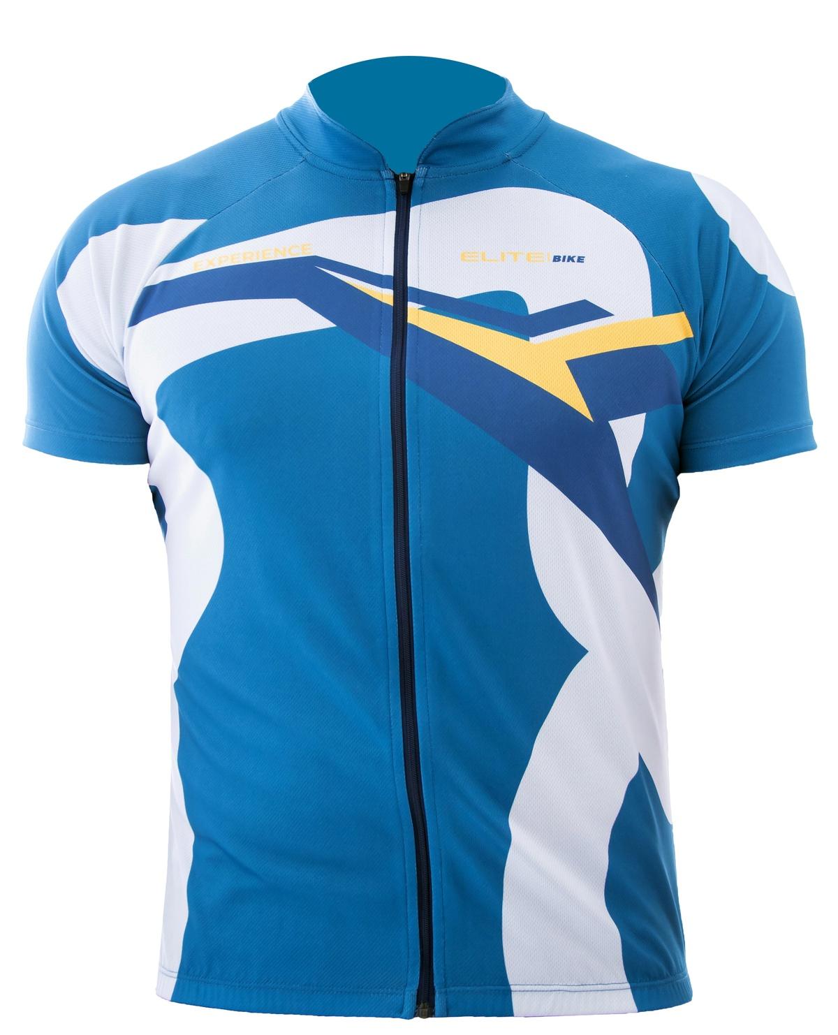 Camiseta Elite Azul Uv 50 Ciclismo Bike
