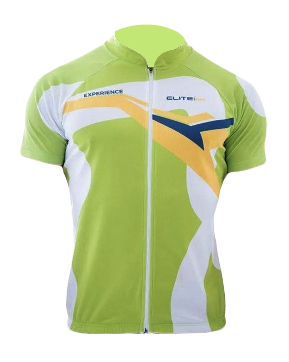 Camiseta Infantil Elite Verde Uv 50 Ciclismo Bike
