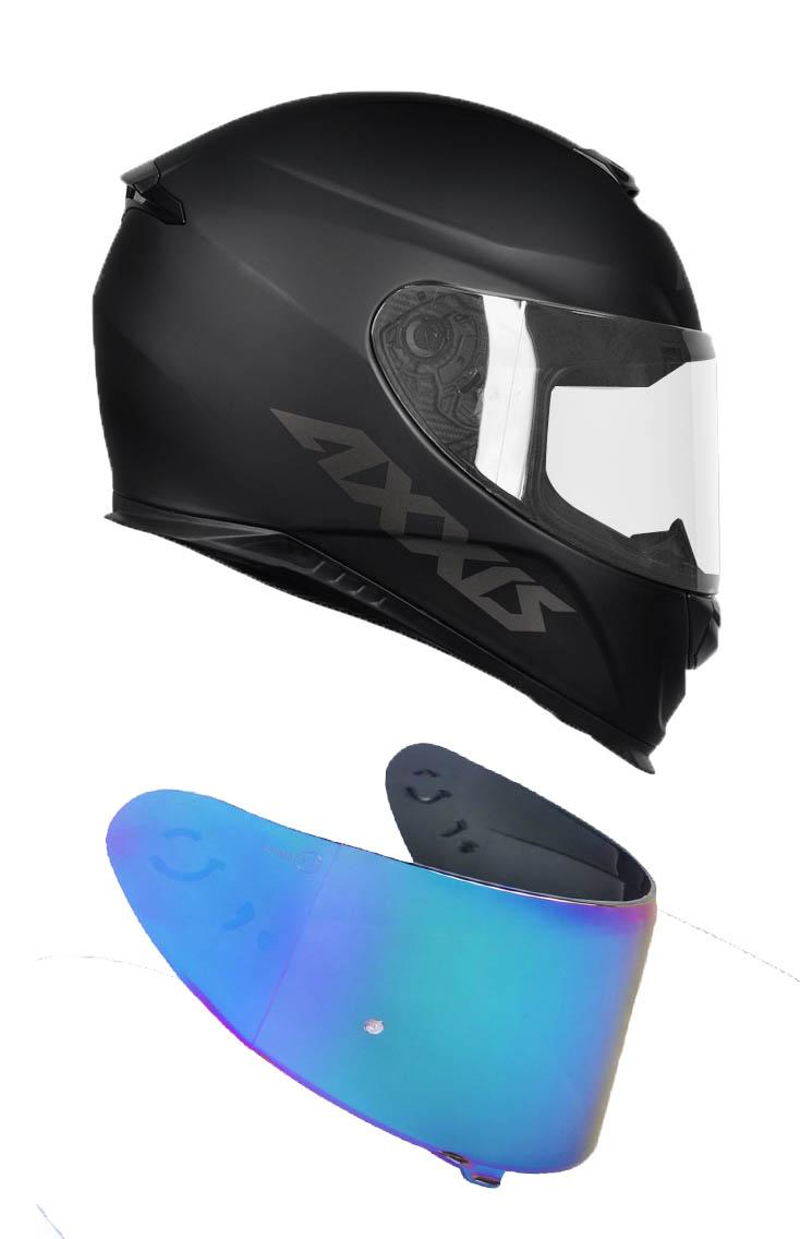 Capacete Axxis Eagle Solid Mono Matt Com Viseira Azul