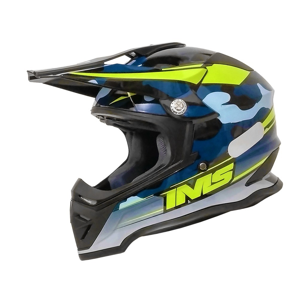 Capacete Ims Army Azul Camuflado Trilha Motocross