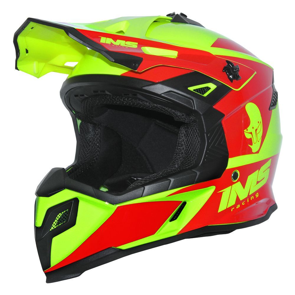 Capacete Ims Sprint Neon Vermelho Motocross Trilha