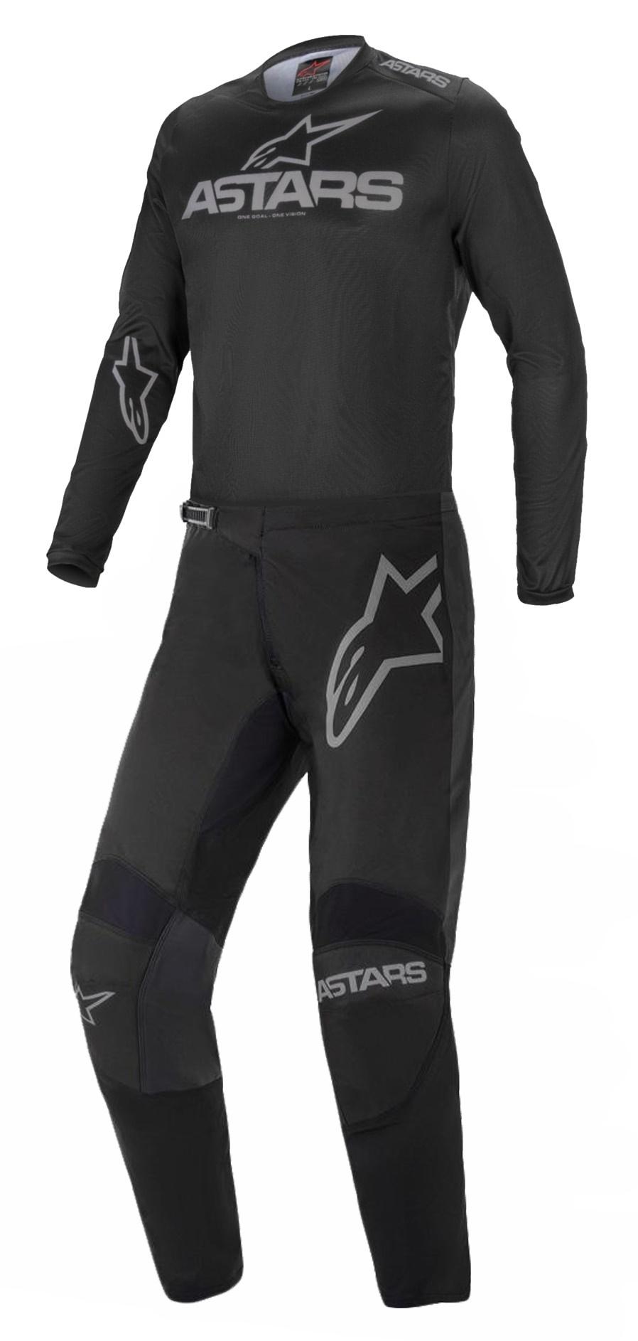 Conjunto Alpinestar Fluid Graphite 21 Preto Motocross Trilha