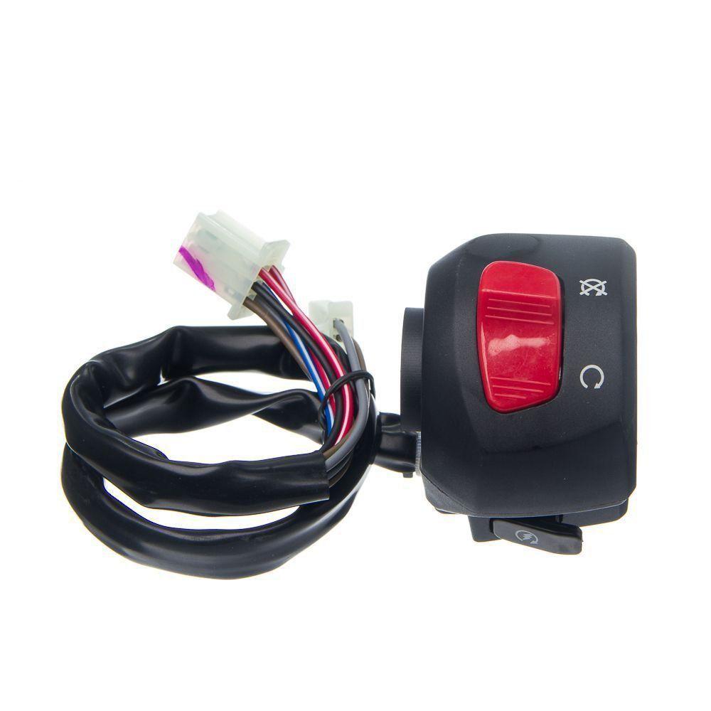 Conjunto Interruptor Emergencia Partida Condor Ybr 125 Factor 09 A 13