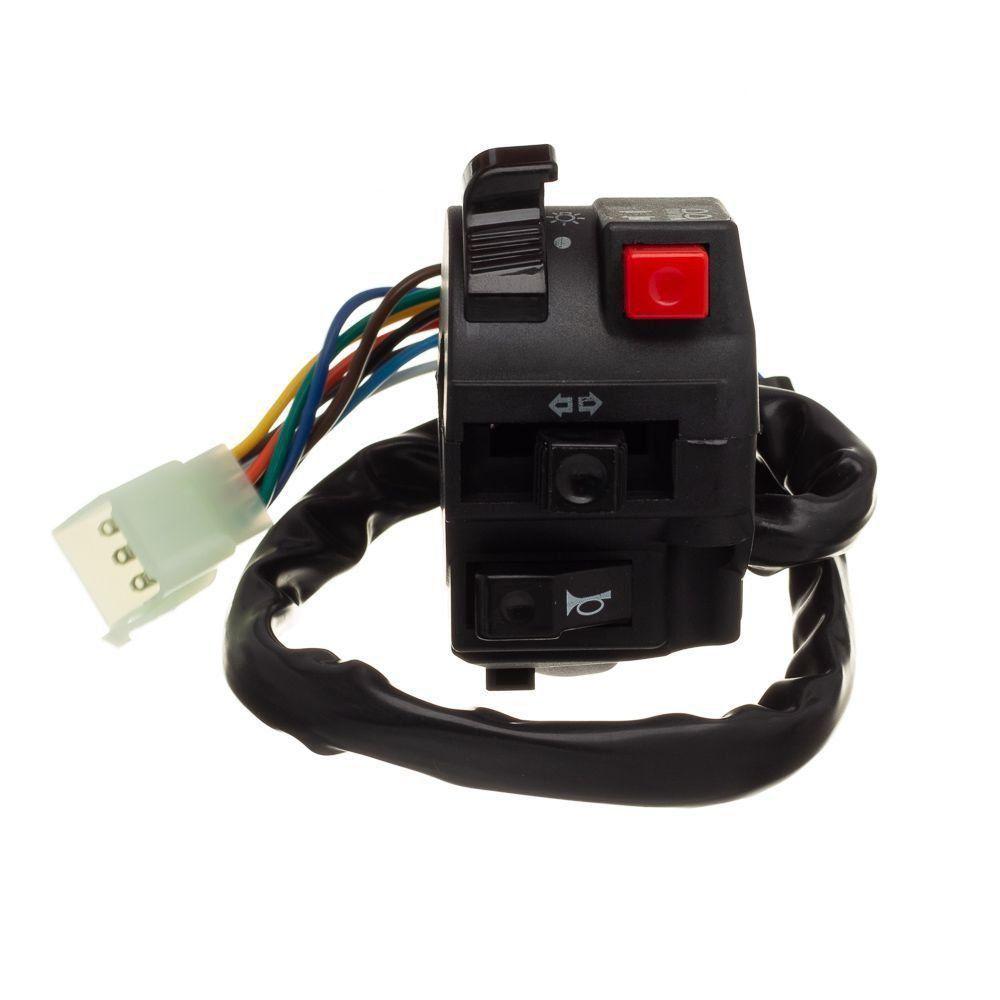 Conjunto Interruptor Luz Condor L.Esquerdo Cg 125 00 A 04 Ks - Nxr Bros 125 03 A 05 Ks