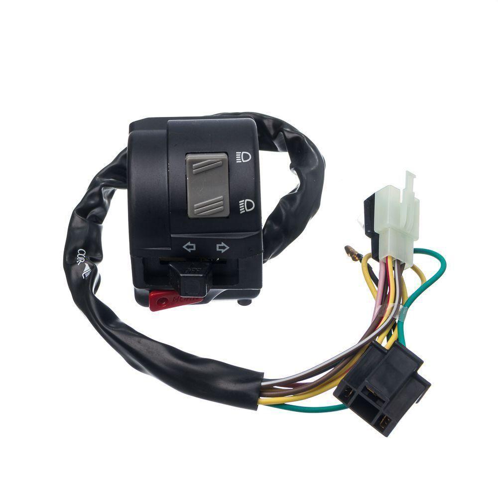 Conjunto Interruptor Luz Condor Esquerdo Ybr 125 Factor 14... Ed K1