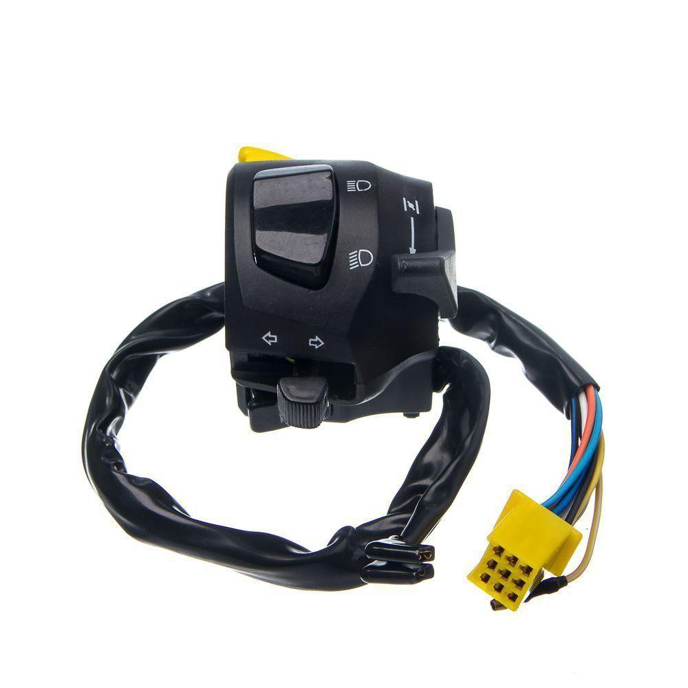 Conjunto Interruptor Luz Condor Esquerdo Yes 125 2011... (10 Fios)