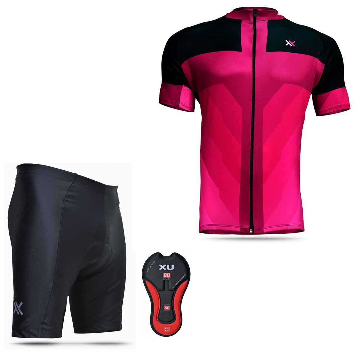 Conjunto Mattos Bermuda Short Camisa Feminina Rosa Ciclismo